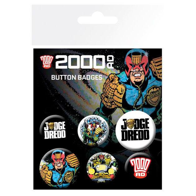 2000 AD Judge Dredd kitűző csomag termékfotó