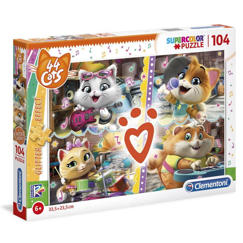 44 Cats Glitter Effect puzzle 104db-os termékfotó