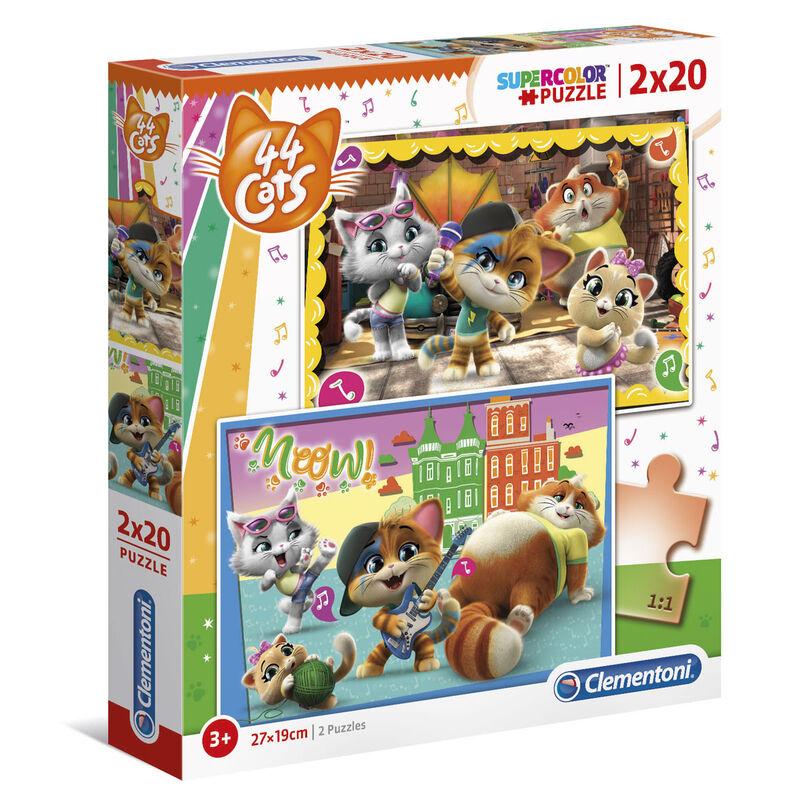 44 Cats puzzle 2x20db-os termékfotó