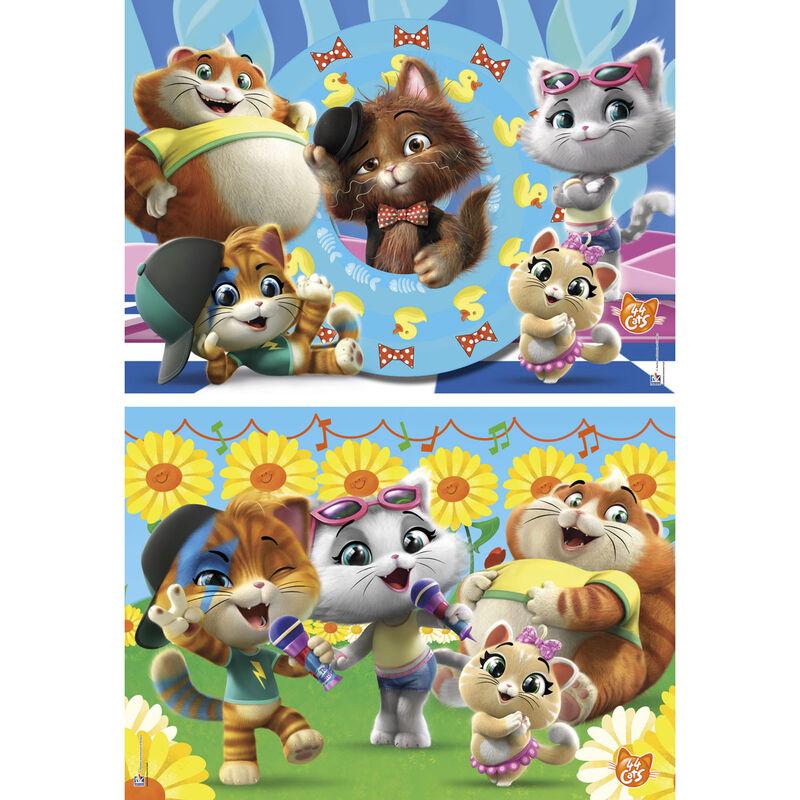 44 Cats puzzle 2x60db-os termékfotó