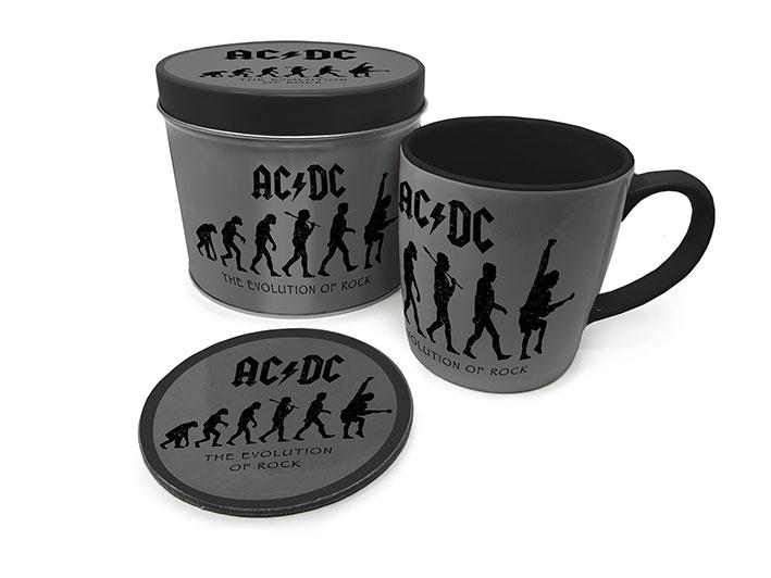AC/DC The Evolution of Rock bögre poháralátéttel termékfotó