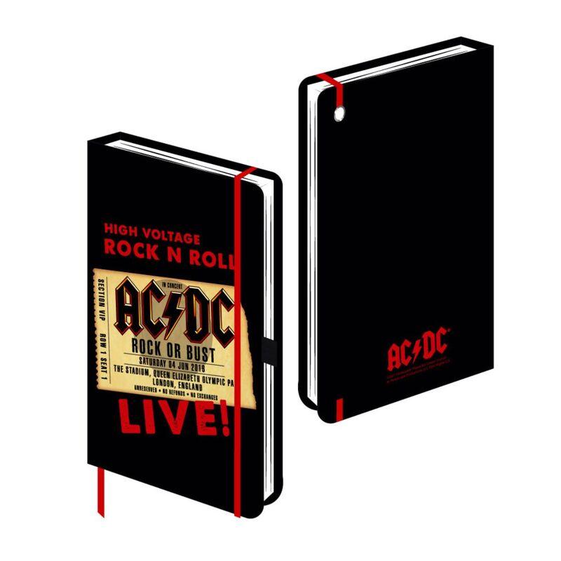ACDC A5 jegyzetfüzet termékfotó