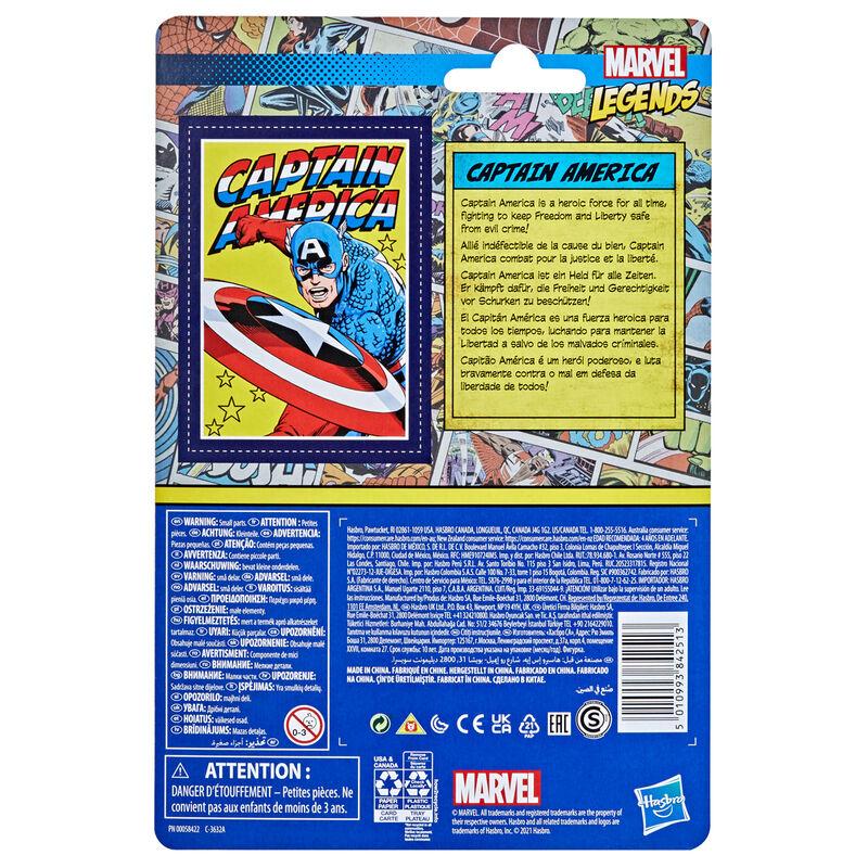 Amerika Kapitány retro figura 9,5cm termékfotó
