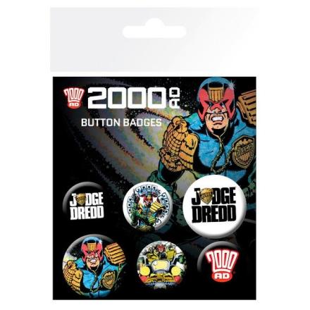 2000 AD Judge Dredd kitűző csomag ajándékba