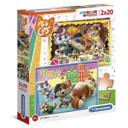 44 Cats puzzle 2x20db-os ajándékba