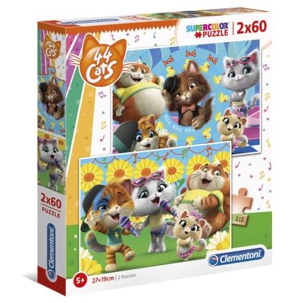 44 Cats puzzle 2x60db-os ajándékba