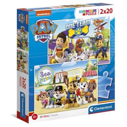 A Mancs őrjárat puzzle 2x20db-os termékfotója