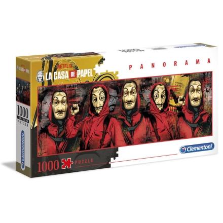 A nagy pénzrablás Panorama puzzle 1000pcs ajándékba