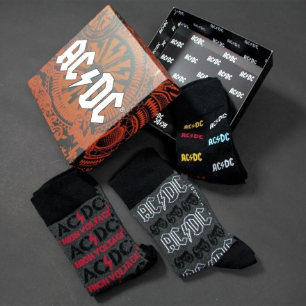 ACDC 3db-os férfi zoknicsomag termékfotója