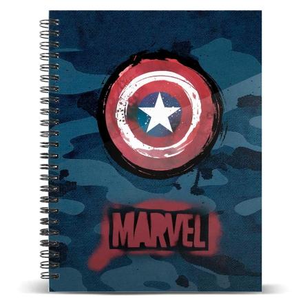 Amerika Kapitány A4 jegyzetfüzet termékfotója