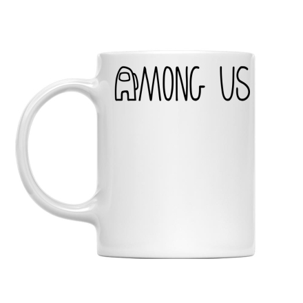 Among Us Among us logo bögre ajándékba
