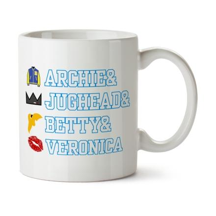 Archie & Jughead & Betty & Veronica bögre ajándékba