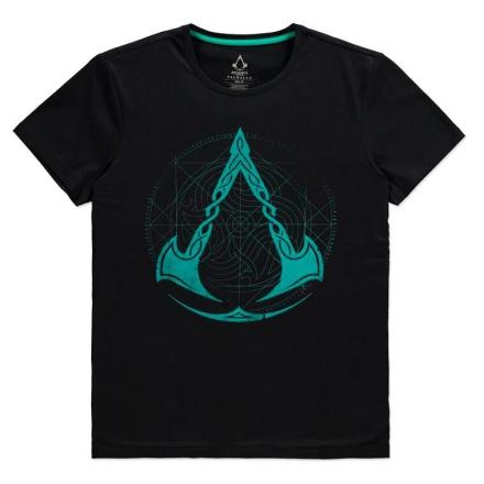 Assassin's Creed Valhalla Crest Grid póló [L] ajándékba