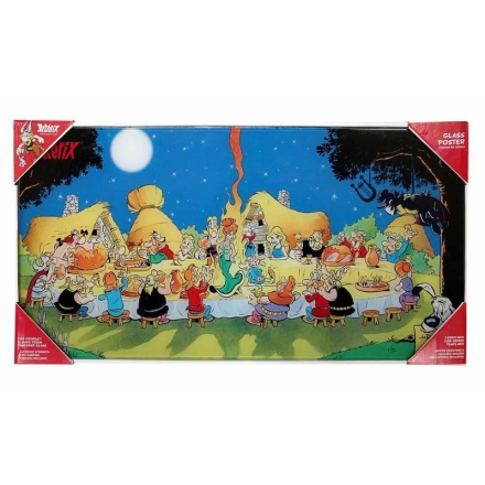 Asterix banquet üveg poszter termékfotója