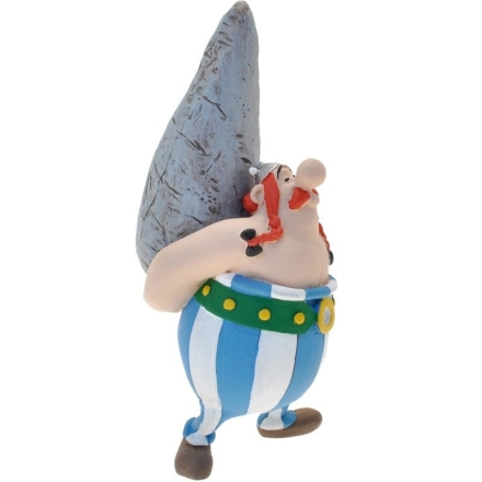 Asterix the Gallic Obelix Kővel figura 9cm termékfotója