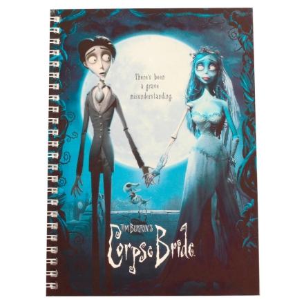 Corpse Bride jegyzetfüzet termékfotója