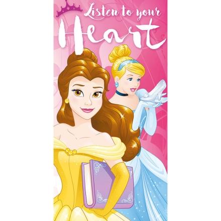 Disney hercegnők Listen to your Heart pamut törölköző termékfotója