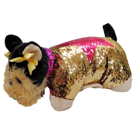 Doggie Star Yorkshire flitteres plüss párna termékfotója