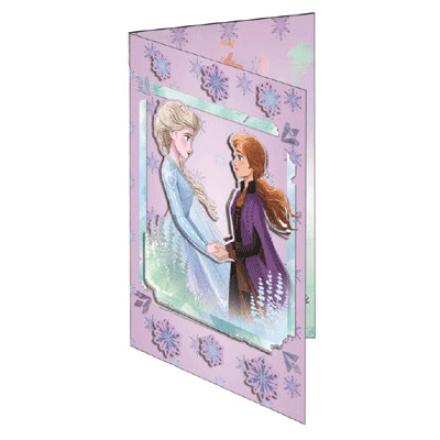 Frozen üdvözlőkártya és boríték termékfotója