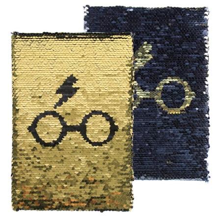 Harry Potter flitteres prémium A5 jegyzetfüzet termékfotója