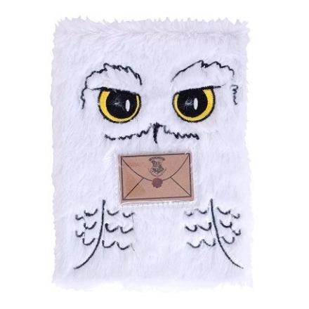 Harry Potter Hedwig A5 plüss jegyzetfüzet termékfotója