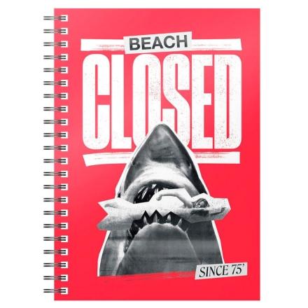 Jaws 1975 strand Closed A5 jegyzetfüzet termékfotója