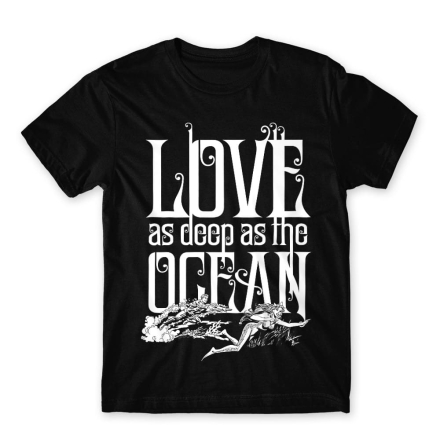 Love as deep as the Ocean férfi póló termékfotója
