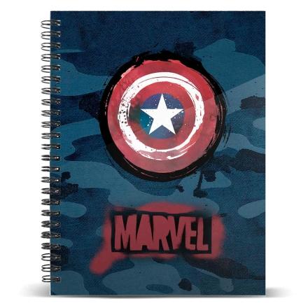 Marvel Amerika Kapitány A5 jegyzetfüzet termékfotója