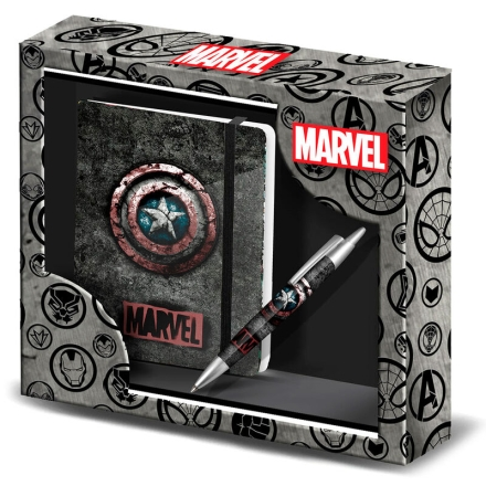 Marvel Amerika Kapitány füzet és toll csomag termékfotója