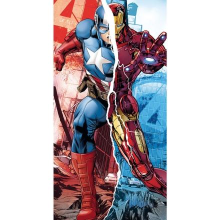 Marvel Avengers Amerika Kapitány Vasember pamut törölköző termékfotója