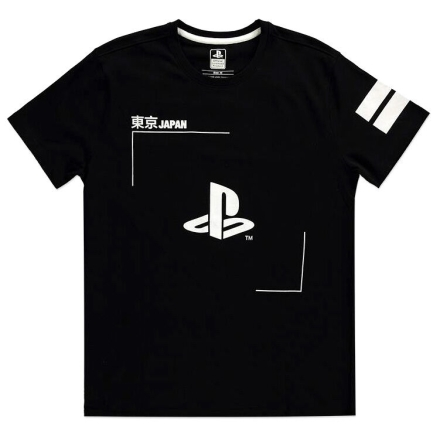 PlayStation Black and White Logós póló [XL] termékfotója
