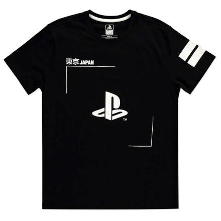 PlayStation Black and White Logós póló [XXL] termékfotója