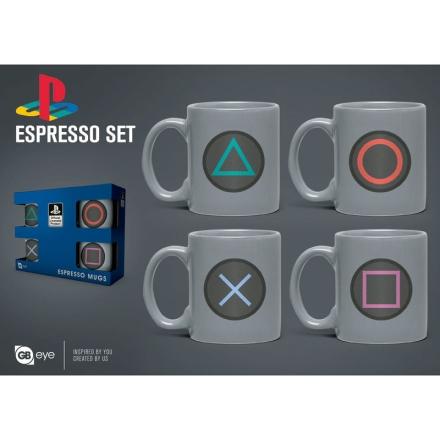 Playstation eszpresszó készlet étkészlet termékfotója
