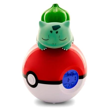 Pokemon Bullbasaur Pokelabda lámpa ébresztő órával termékfotója