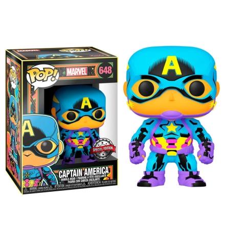 POP figura Marvel Black Light Amerika Kapitány termékfotója