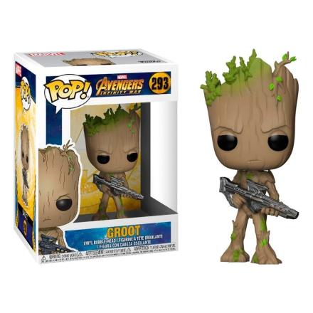 POP figura Marvel Bosszúállók Infinity War Teen Groot fegyverrel termékfotója