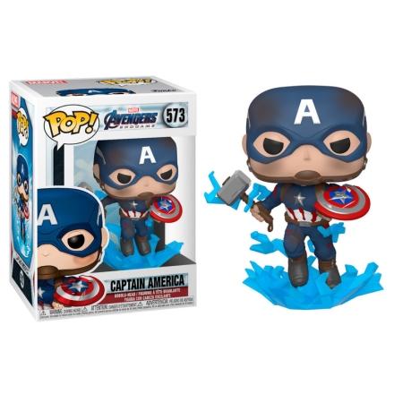 POP figura Marvel Bosszúállók Végjáték Amerika Kapitány törött pajzzsal termékfotója