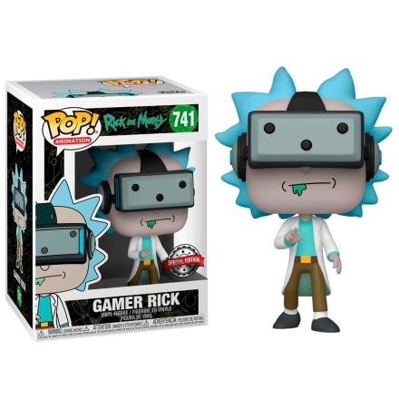 POP figura Rick és Morty Gamer Rick Exkluzív termékfotója