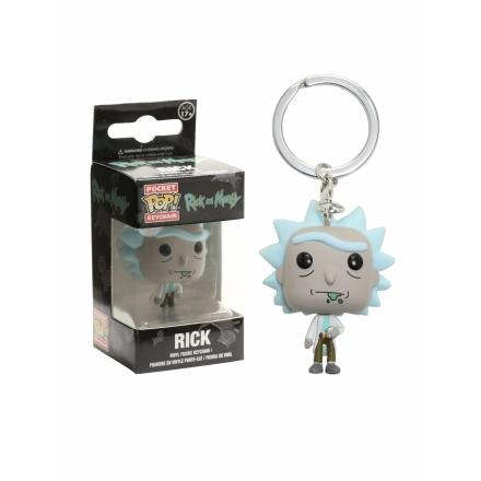 Rick és Morty kulcstartó Rick figurával termékfotója