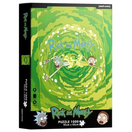 Rick és Morty Portal puzzle 1000db-os termékfotója