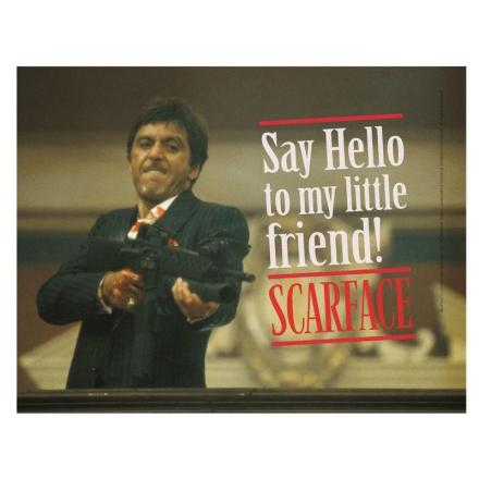 Scarface Say Hello üveg poszter termékfotója