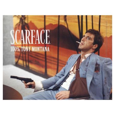 Scarface Tony Montana üveg poszter termékfotója