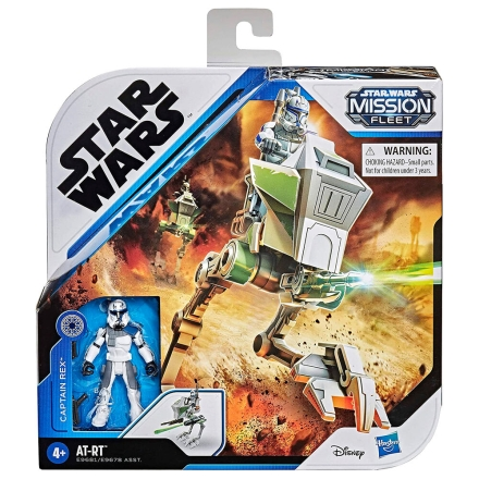 Star Wars Mission Fleet Captain Rex + AT-RT csomag figura termékfotója