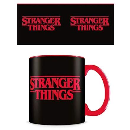 Stranger Things logós fekete bögre termékfotója