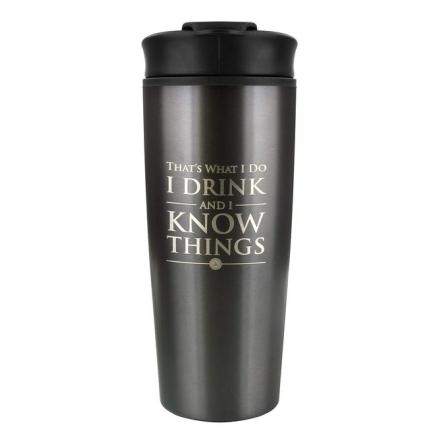 Trónok Harca I Drink And I Know Things utazó bögre termékfotója